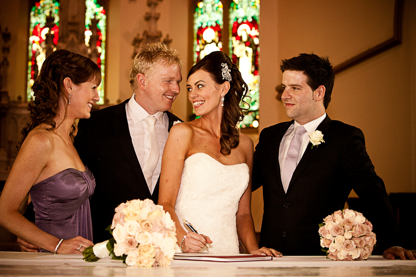 Wedding Photography Registry Signing St Lawrence's Church North Adelaide