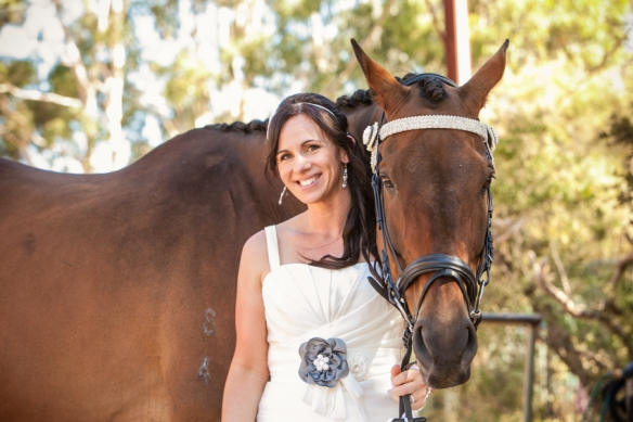 Bride and Horse at wedding
