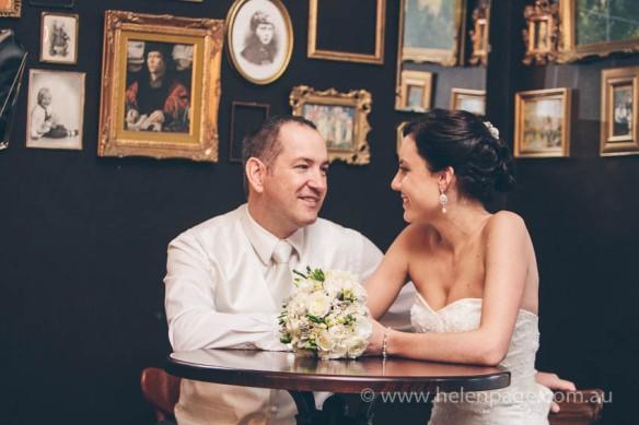 Bride and Groom at Benjamin Franklin Hotel Adelaide