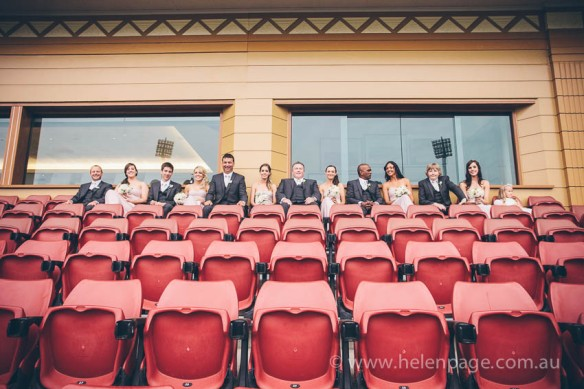 Nicole Bridal Party at Adelaide Oval