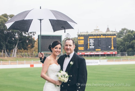 Bride and Groom at Adelaide Oval