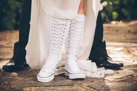Converse Wedding Boots