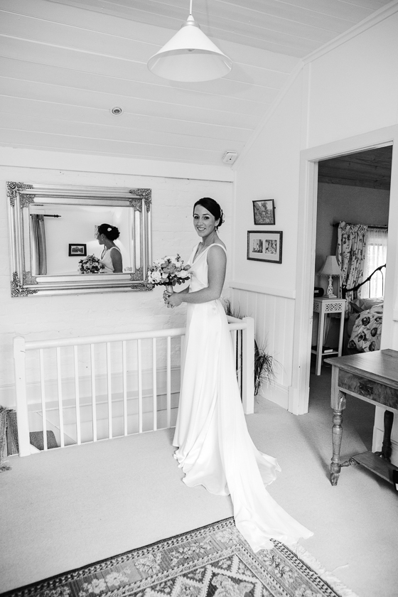 Bride getting ready at Adelaide Hills Country Cottages