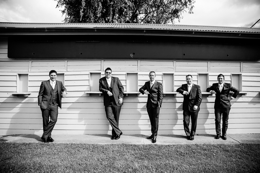 Groomsmen at Oakbank Racecourse Wedding Adelaide Hills