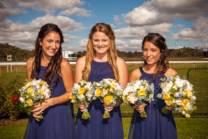 The bridesmaids Oakbank Racecourse, Adelaide Hills Wedding