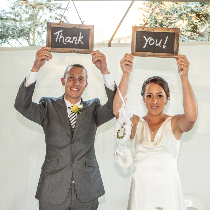 Thankyou from the bride and groom, Oakbank Racecourse Wedding in the Adelaide Hills